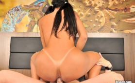 Shemale michelly fucked in her tight latin ass