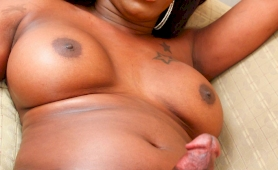 ebony transsexual with a humongous dick