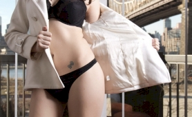 Gorgeous bailey jay stripping off her black panties