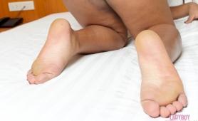 Chubby transexual feet
