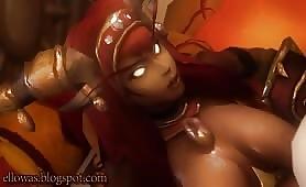 White Demon Fuck Black Shemale Ebony Big Boobed Devil