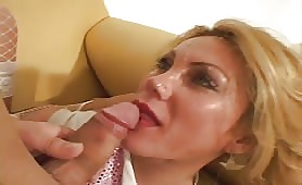 Guy Is Fucked By Tranny And He Cum On Her Face, Shemale Interview