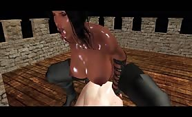 Two Shemales Fucking On The Roof Of The Castle, Shemale On Top Riding Huge Black Dick, Best 3d Doggystyle Anal Gaping And Handjob Orgasm Cumshots