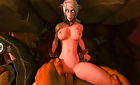 Huge Muscle Ork Fucking Raugh Small Elf Sexy Babe