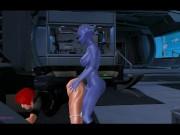 Shepard nailed By Asari Commando (futa)